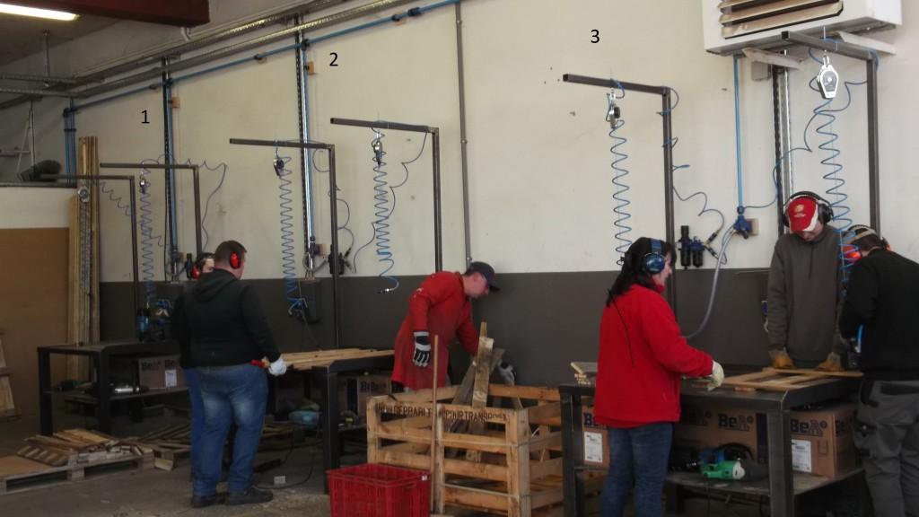 Un atelier de fabrication de Palettes